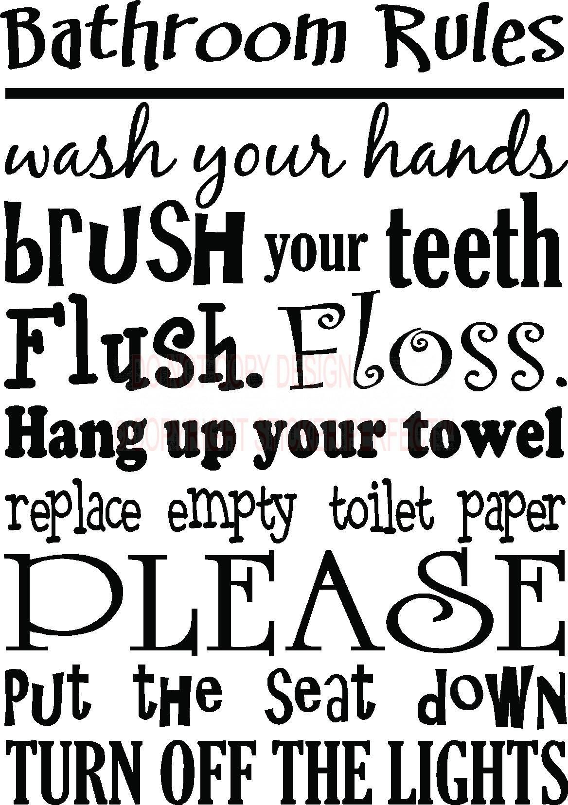 Bathroom Quotes Svg | Funny Bathroom Signs Svg Bundle M3219Th Studio - Free Printable Bathroom Quotes