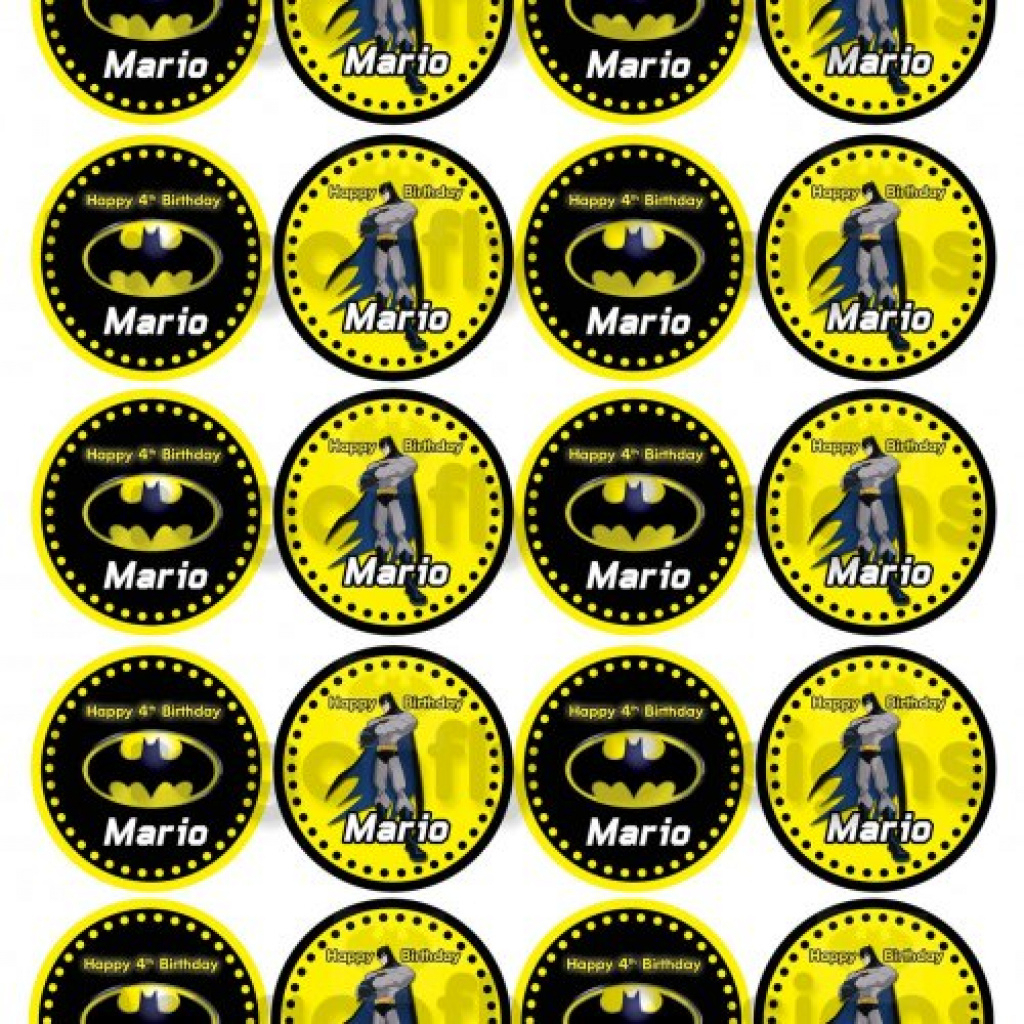 graphic regarding Batman Cupcake Toppers Printable identify Batman: Totally free Printable Cake Toppers. - Oh My Fiesta! For