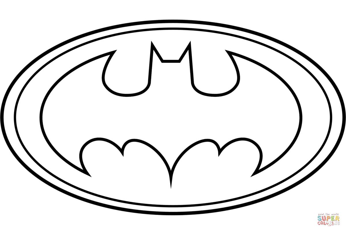 Batman Logo Coloring Page | Free Printable Coloring Pages - Free Printable Batman Coloring Pages