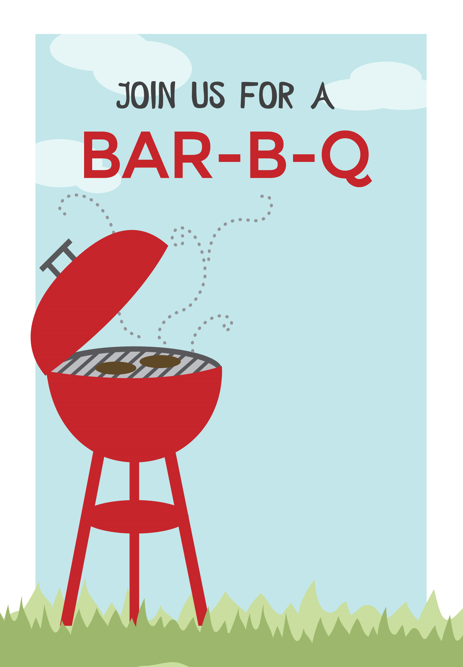 Bbq Cookout - Free Printable Bbq Party Invitation Template - Free Printable Flyers For Parties
