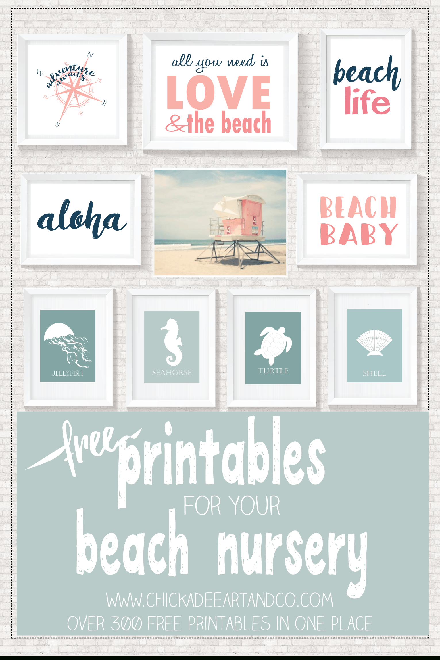 Beach Printables | ~ Printables ✂ | Pinterest | Décoration Bébé - Free Printable Beach Pictures