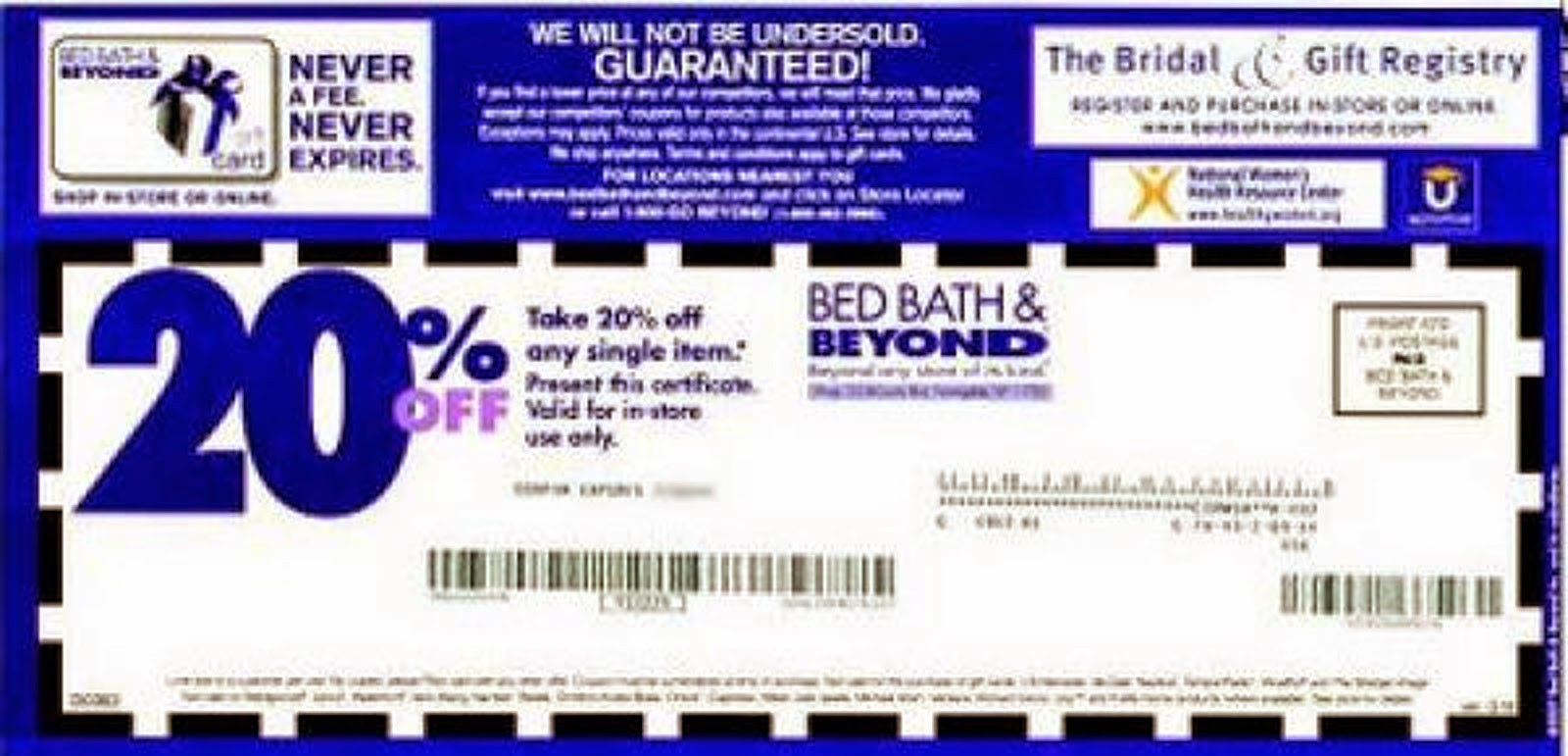 Bed Bath And Beyond Coupons 20 Off Printable Coupon - Mysembalun - Free Printable Bed Bath And Beyond 20 Off Coupon