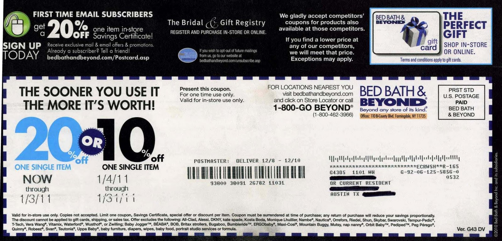 Bed Bath And Beyond Coupons And Printable Coupons: Bed Bath And - Free Printable Bed Bath And Beyond 20 Off Coupon