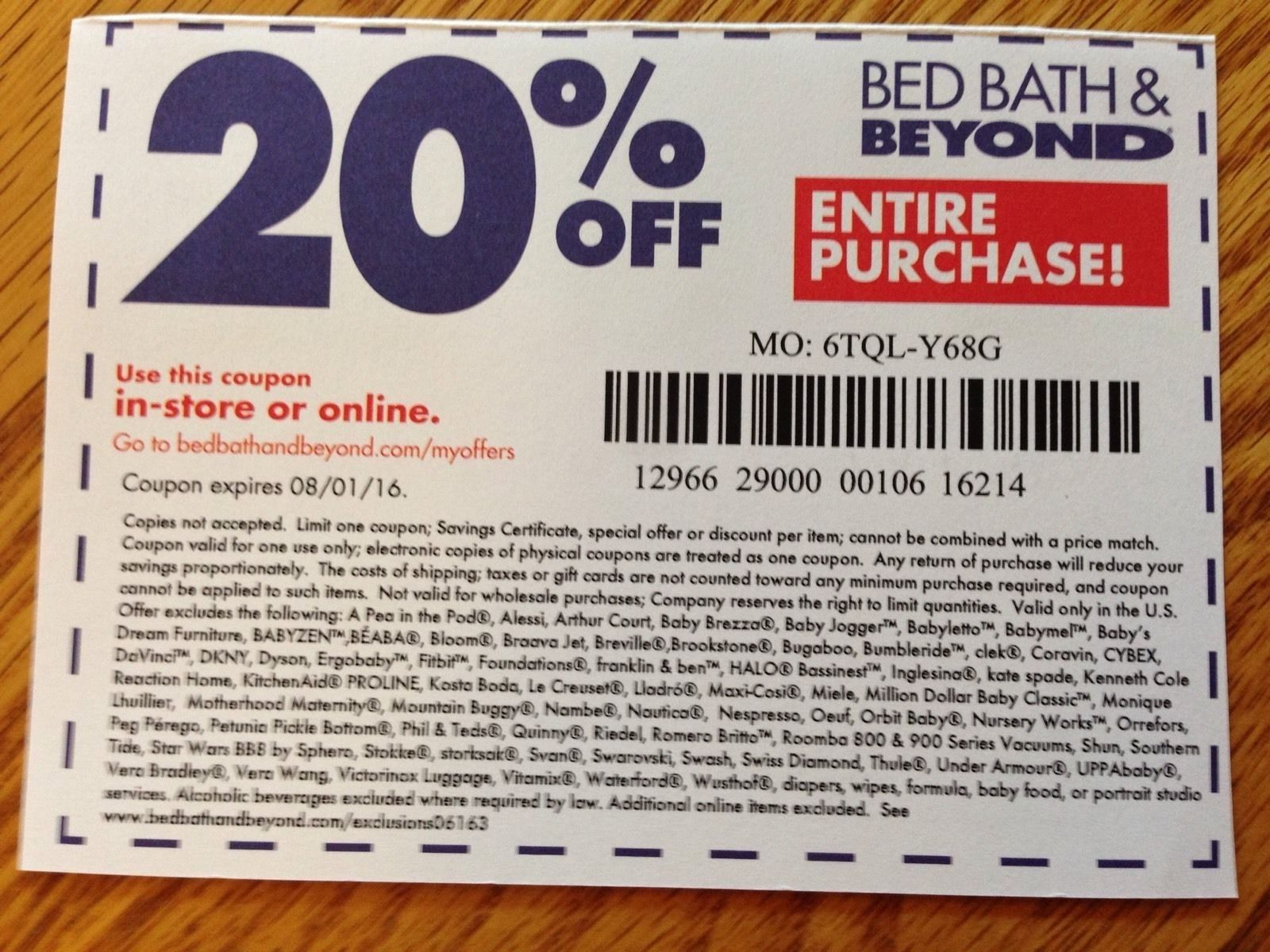 Bed Bath And Beyond Online Coupons 20 Off : Ninja Restaurant Nyc Coupons - Free Printable Bed Bath And Beyond 20 Off Coupon