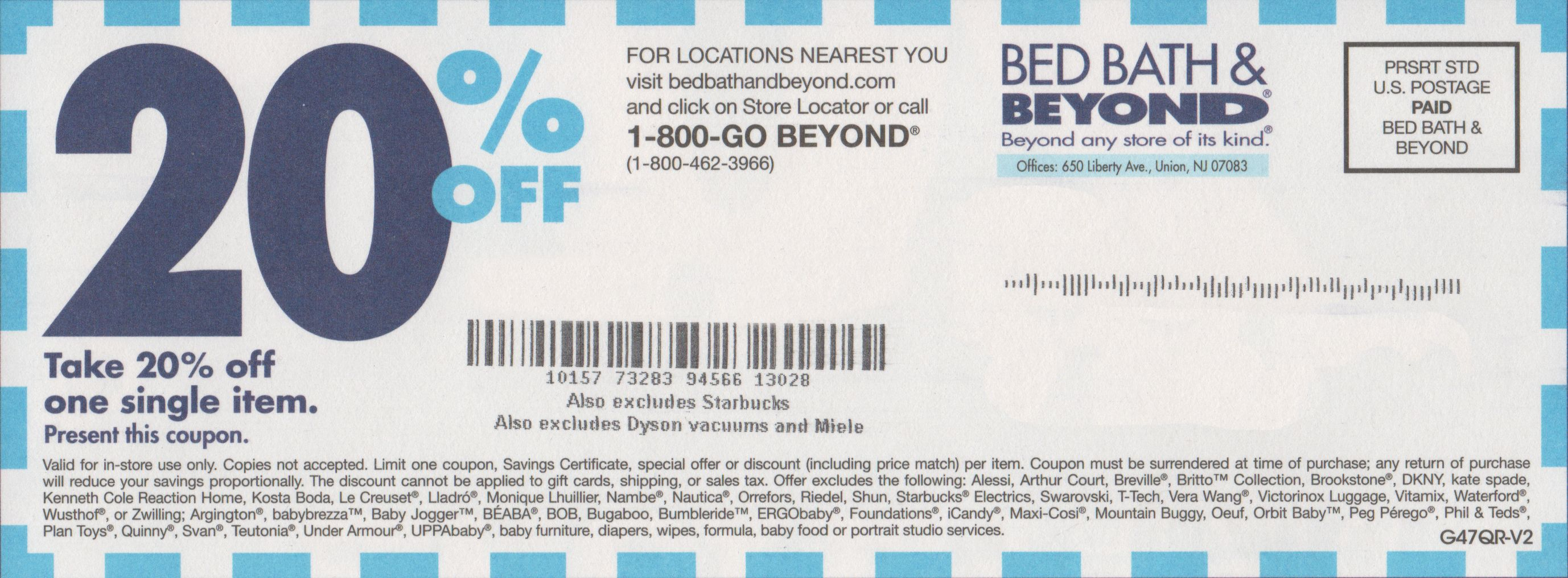 Bed Bath & Beyond Printable Coupon 20 Percent Off In-Store | Bed - Free Printable Bed Bath And Beyond 20 Off Coupon