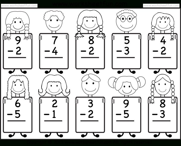 Free Printable Math Addition Worksheets For Kindergarten