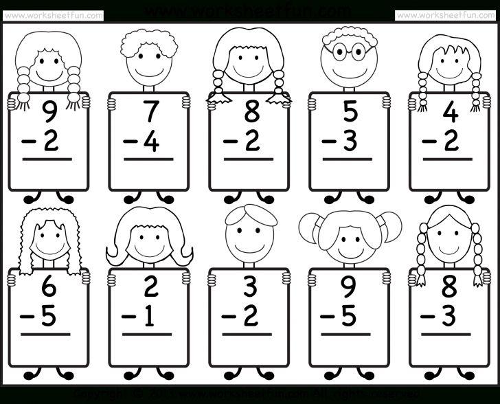 Free Printable Math Addition Worksheets For Kindergarten