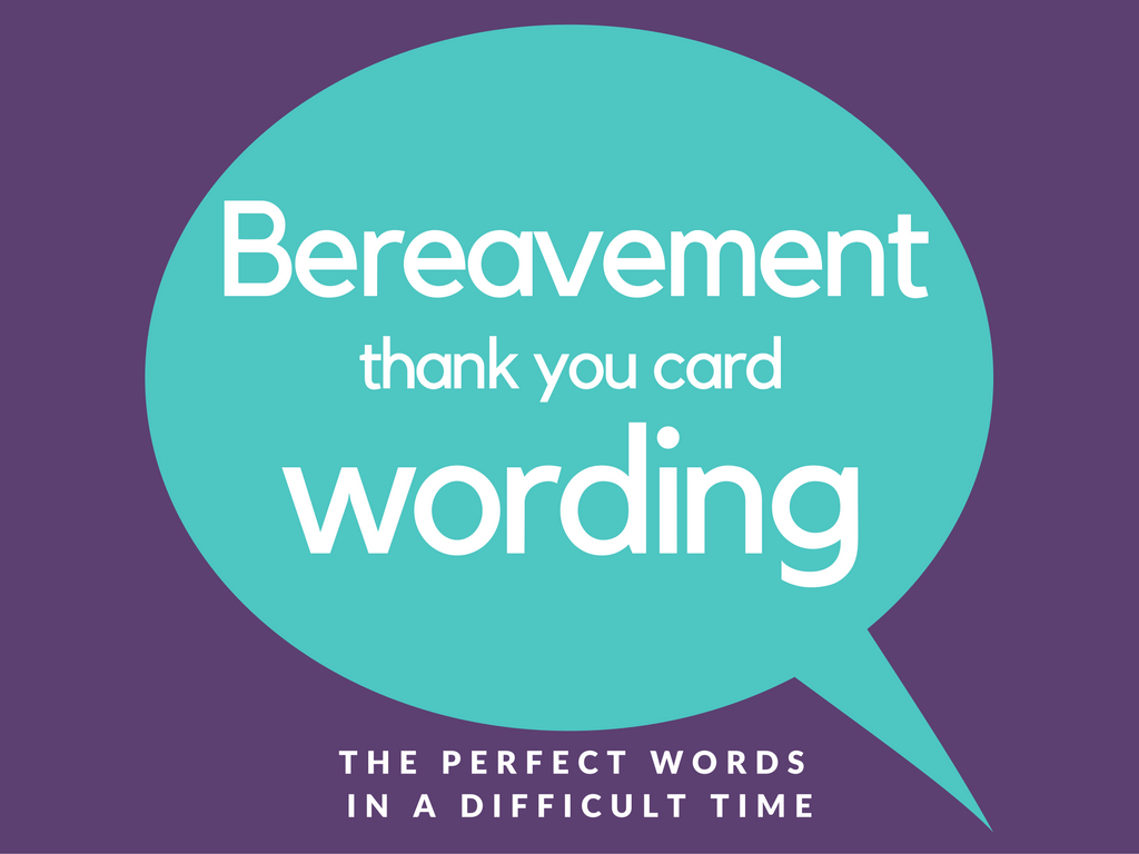 Bereavement Thank You Notes   Lovely Wording Examples - Thank You Sympathy Cards Free Printable