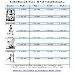 Best Butt Workouts For Women   Free Printable 12 Week Butt Workout   Free Printable Gym Workout Routines