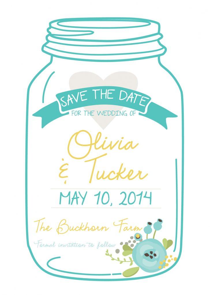 Free Mason Jar Wedding Invitation Printable Templates