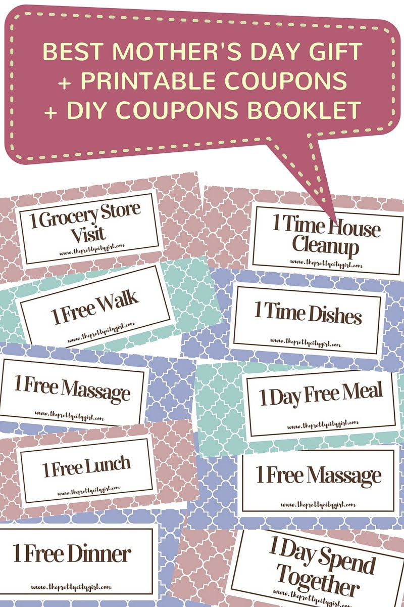 Best Mother's Day Gift + Free Printable Coupons + Diy Coupons - Free Printable Coupons 2014
