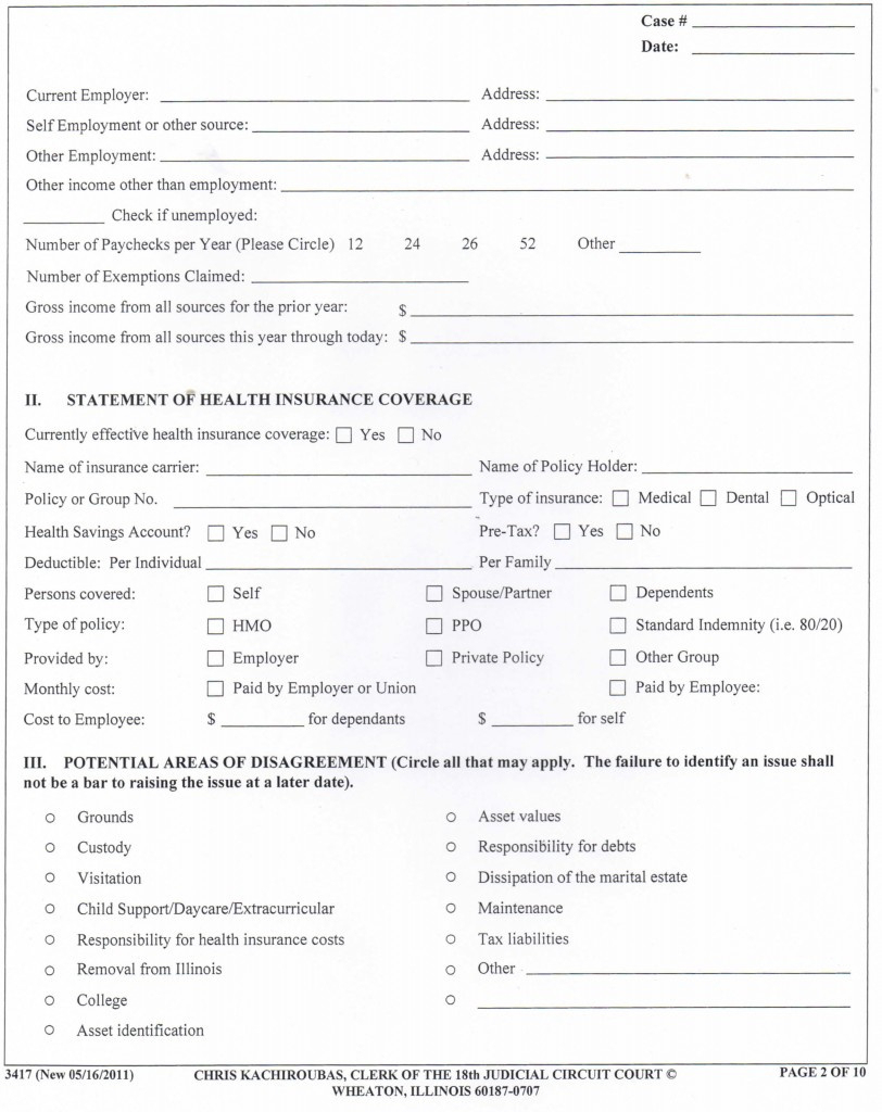 Best Photos Of Blank Il Divorce Decree Forms - Blank Copy Of Divorce - Free Printable Divorce Papers For Illinois