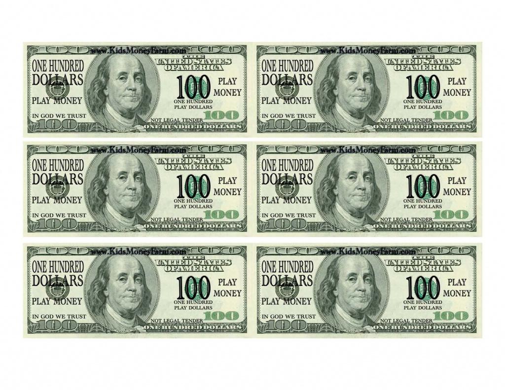 Best Photos Of Printable Fake Money Bills - Fake Money 100 Dollar - Free Printable 100 Dollar Bill