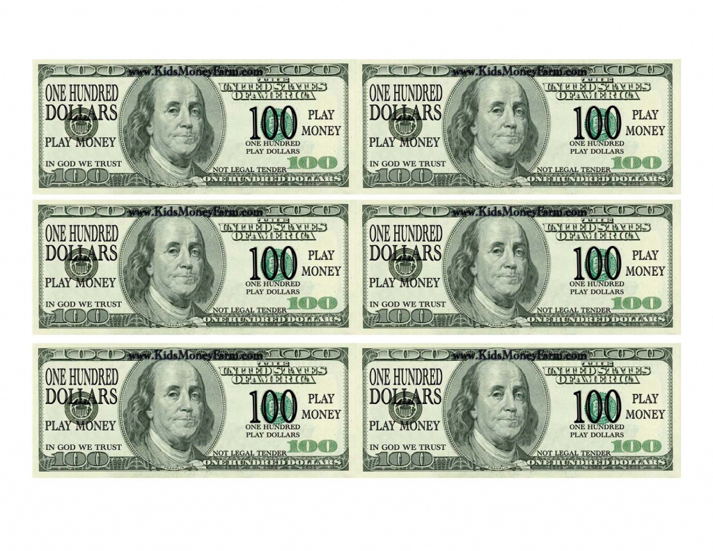 Best Photos Of Printable Fake Money Bills - Fake Money 100 Dollar - Free Printable Fake Money That Looks Real