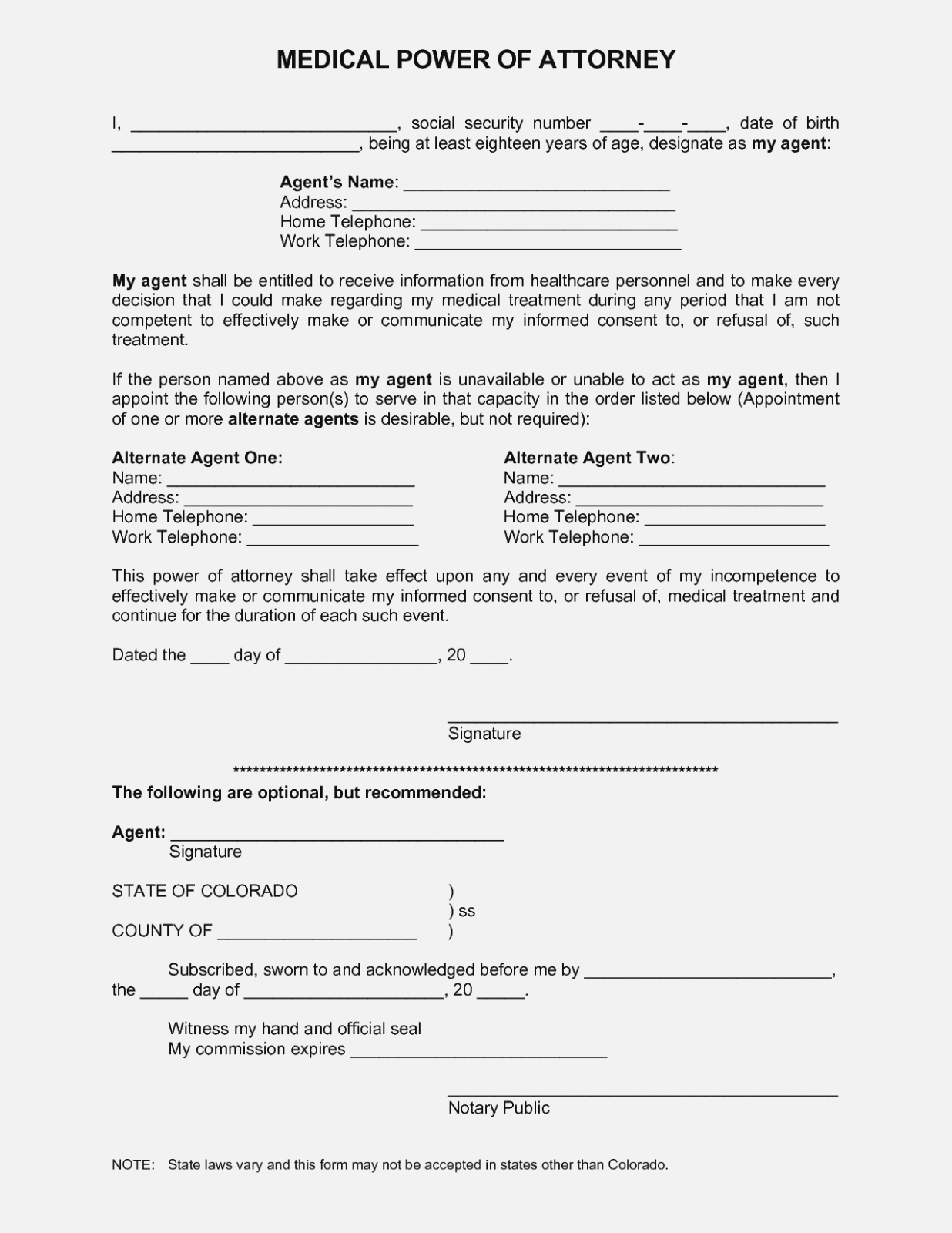 Best Photos Of Printable Medical Power Attorney Forms – Free - Free Printable Medical Power Of Attorney Forms
