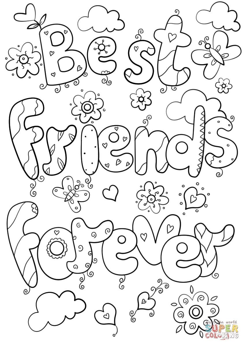 Bff Coloring Pages Best Of Friends Forever Page Logo And   Ideas For - Free Printable Bff Coloring Pages