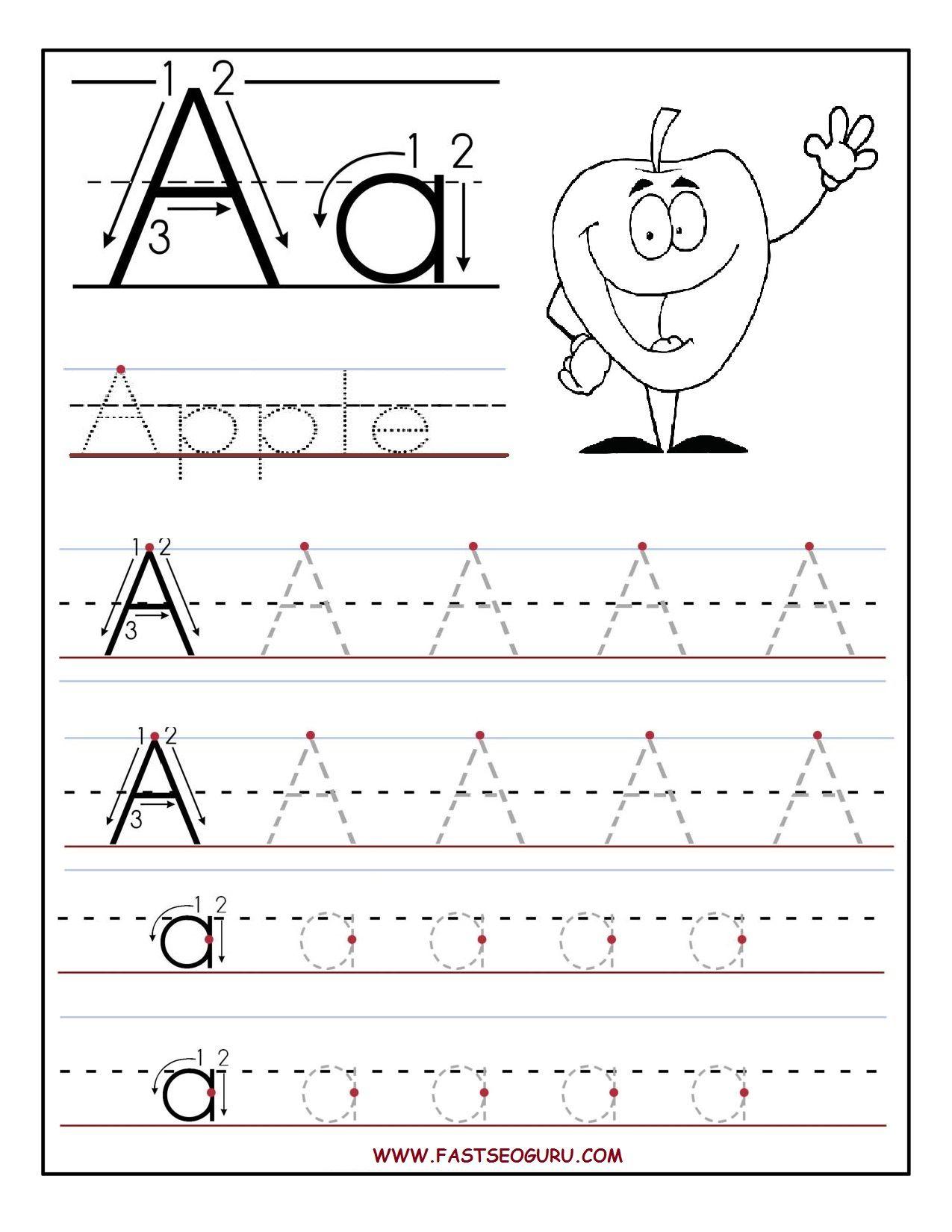 B>Free</b> <B>Printable</b> Letter A Tracing <B>Worksheets</b - Free Printable Preschool Worksheets Tracing Letters
