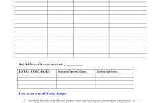 Free Printable Bi Weekly Budget Template