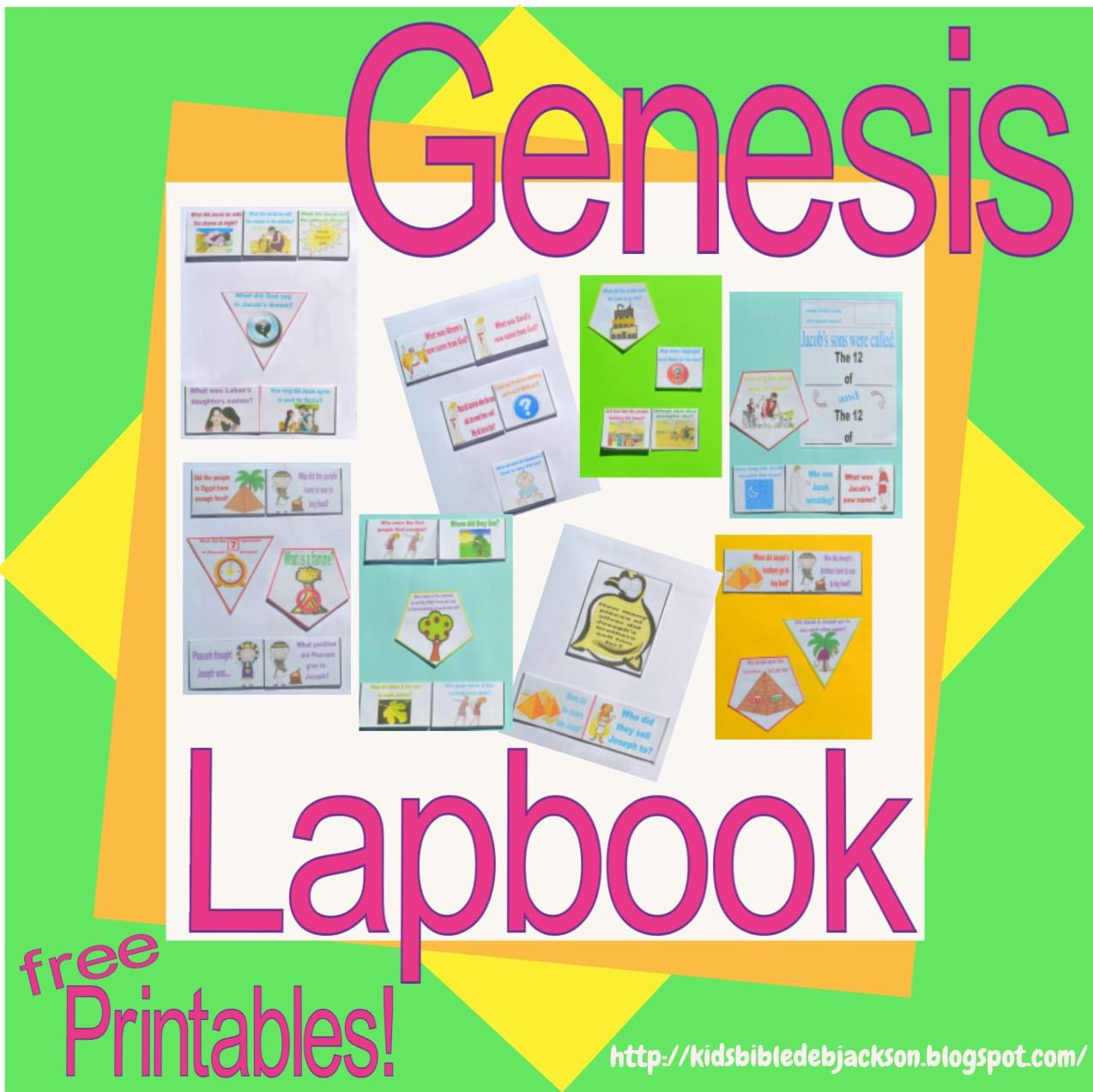 Bible Fun For Kids: Genesis Lapbook & Cut & Glue Student Worksheets - Free Printable Bible Study Lessons Genesis