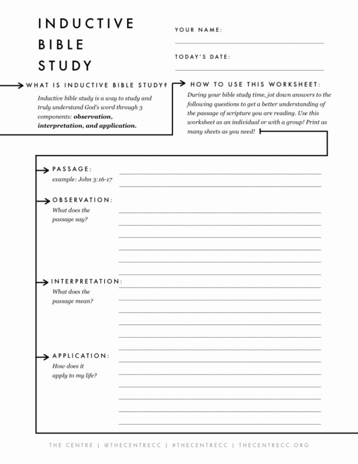 Free Printable Bible Study Worksheets For Adults