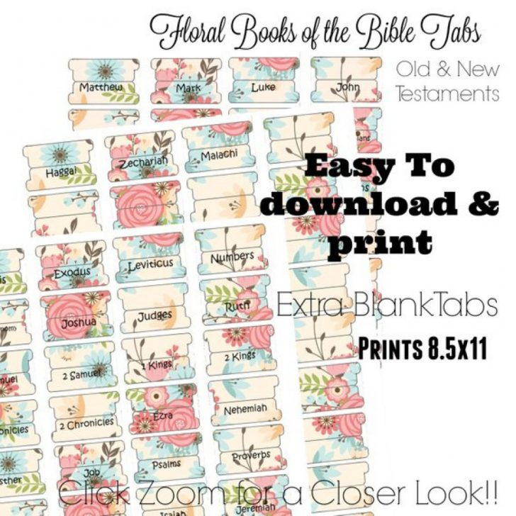 Free Printable Books Of The Bible Tabs