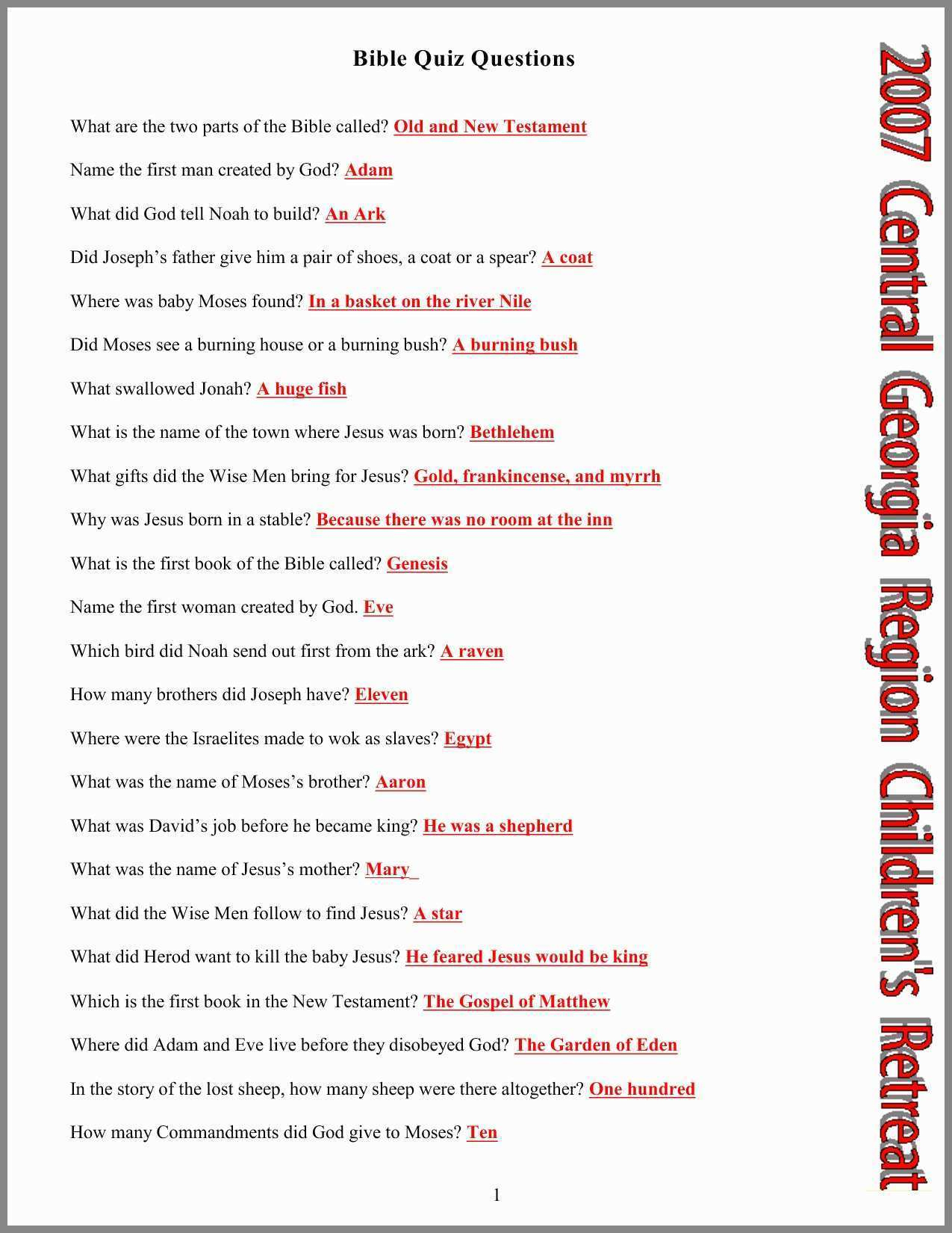 Bible Trivia And Answers Best Of Printable Bible Coloring Pages - Free Bible Questions And Answers Printable