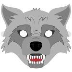 Big Bad Wolf Mask Template | Free Printable Papercraft Templates   Free Printable Wolf Face Mask