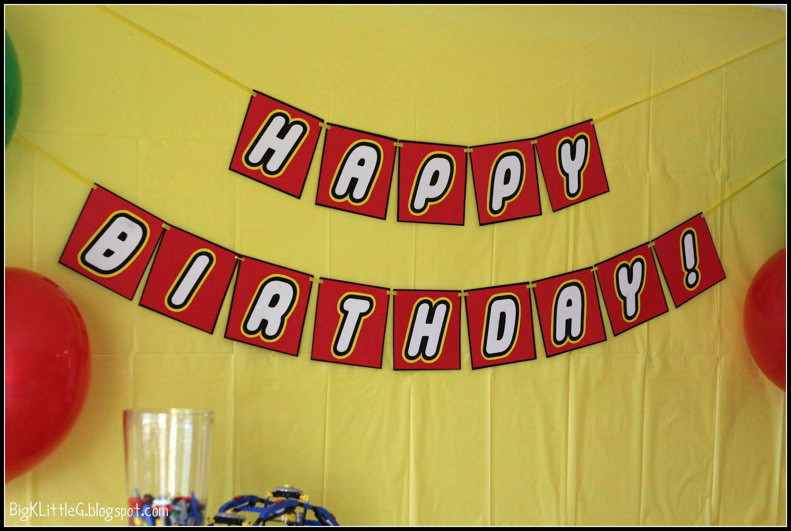 Big K Little G: Lego Party Free Printable Banner - Free Happy Birthday Printable Letters