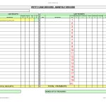 Bill Of Quantities Excel Template And Free Petty Cash  Picture   Free Cash Book Template Printable
