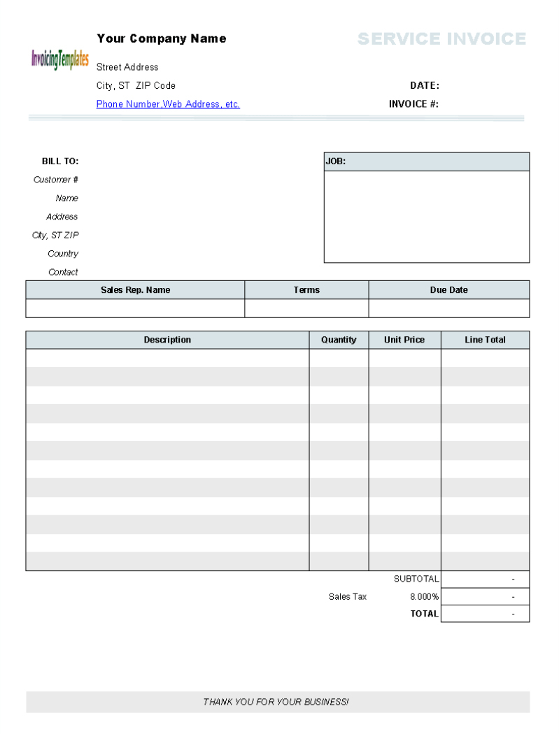 Billing Invoices Free Printable Invoice Forms Templates Blank Design - Free Printable Invoice Templates