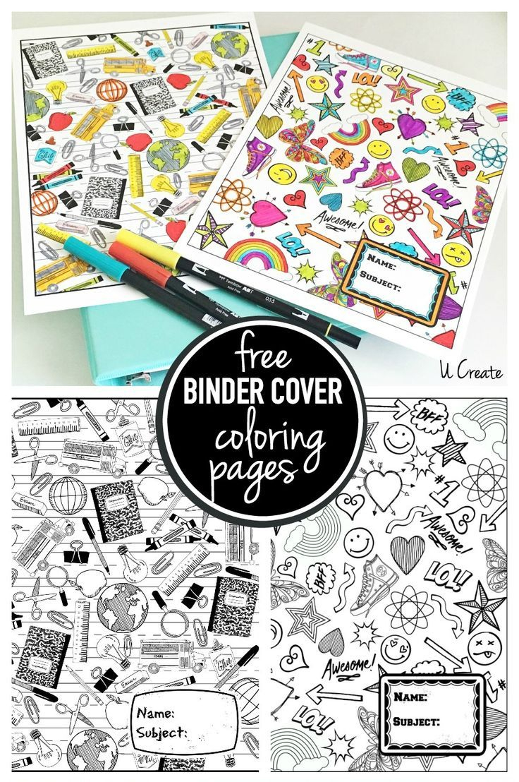 Binder Cover Coloring Pages | Pins I Love | Pinterest | Coloring - Free Printable Binder Covers To Color