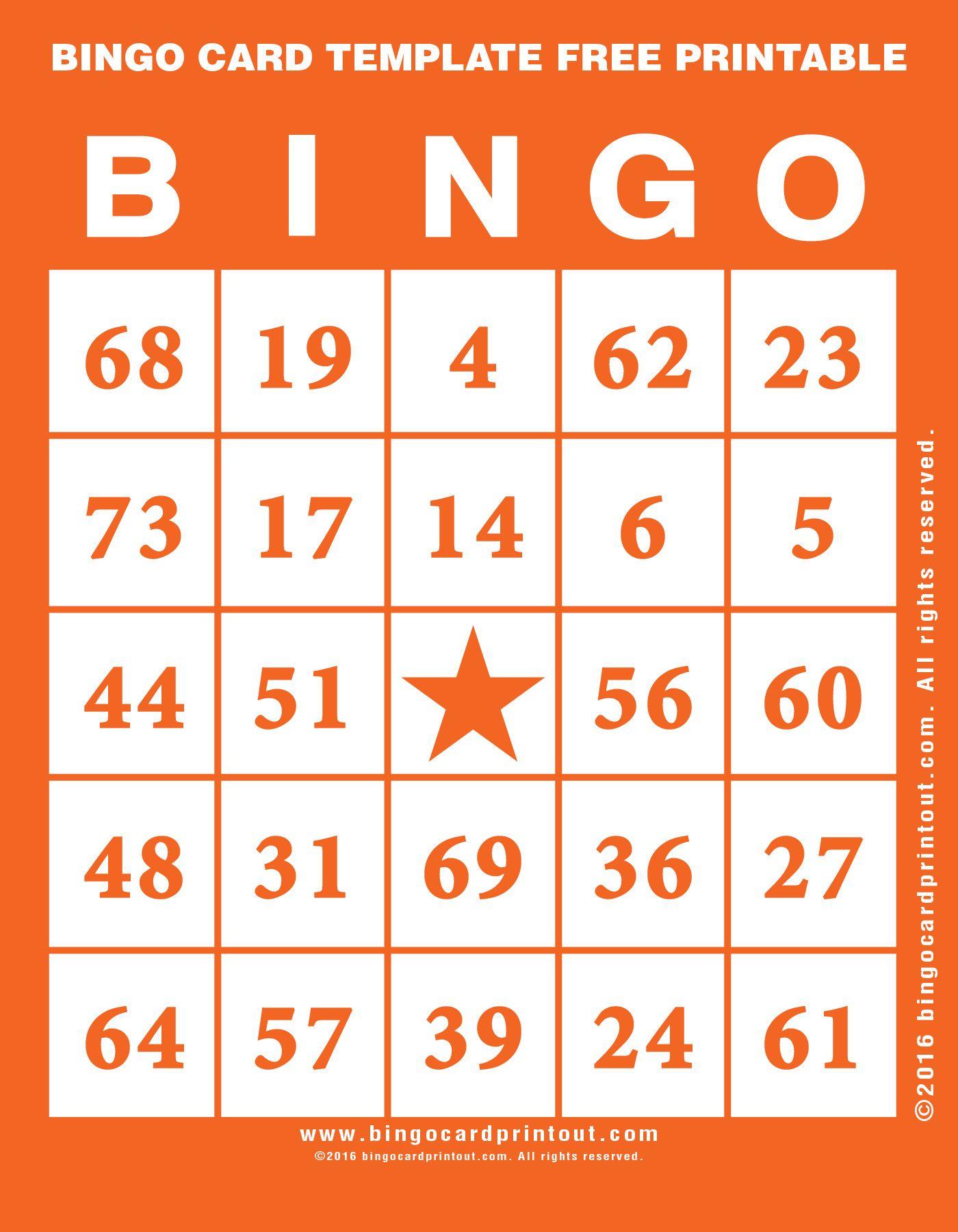 Bingo Card Template Free Printable 2   Bingo   Bingo Card Template - Free Printable Bingo Cards With Numbers
