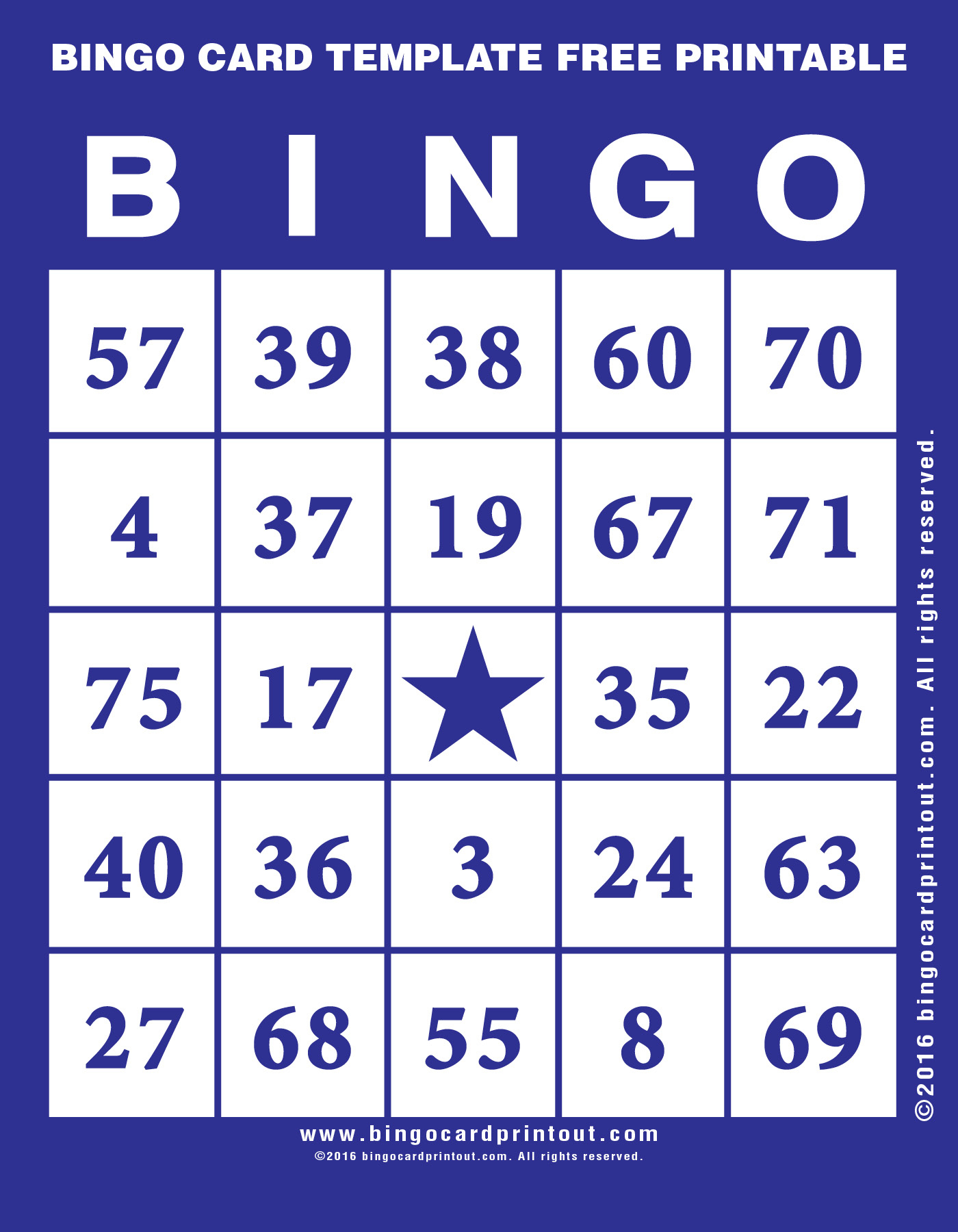 Bingo Card Template Free Printable - Bingocardprintout - Free Printable Bingo Cards 1 75