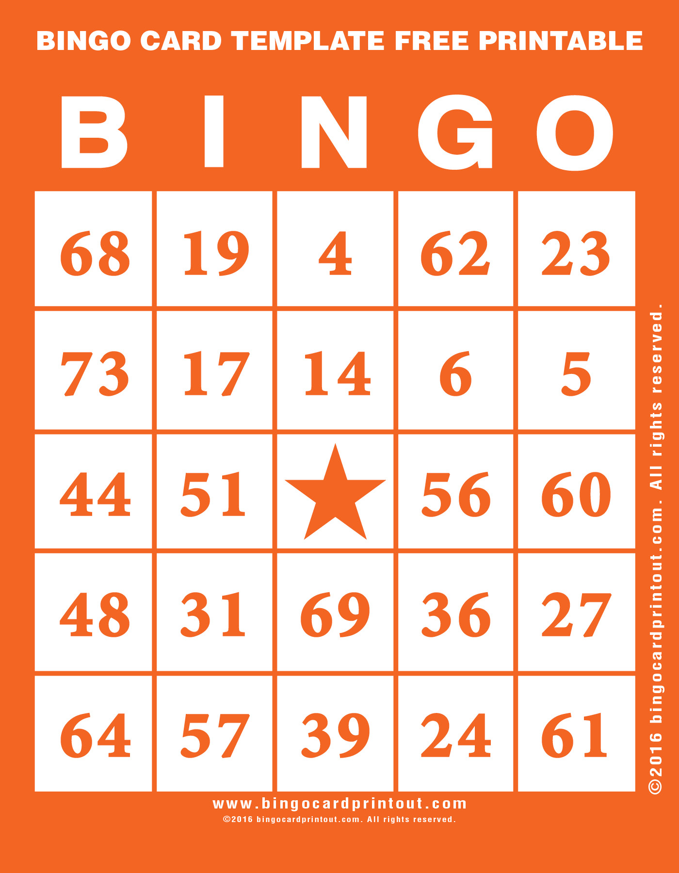 Bingo Card Template Free Printable - Bingocardprintout - Free Printable Bingo Cards