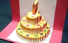 Birthday Cake Pop Up Card (Happy Birthday Kirigami) | Free Template – Free Printable Kirigami Pop Up Card Patterns