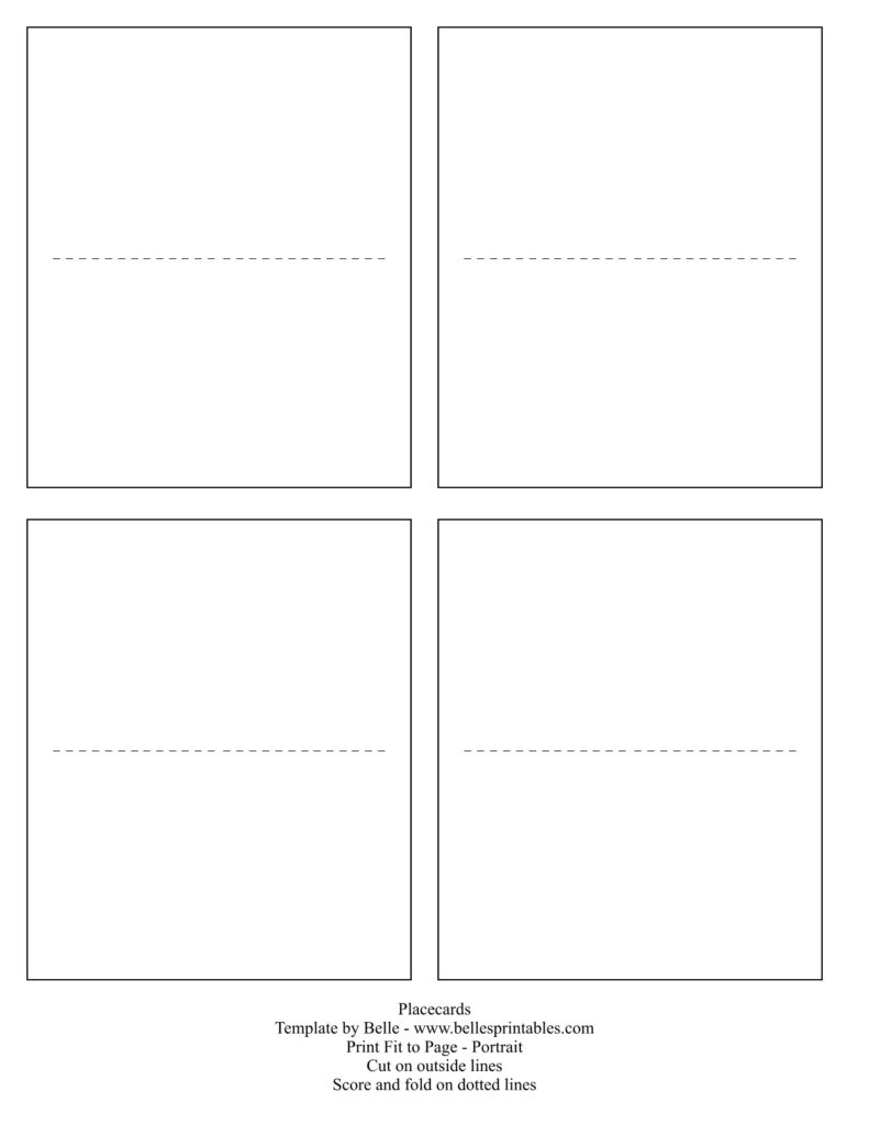 Birthday Card. Free Place Card Template - Gfreemom - Free Printable Place Cards Template