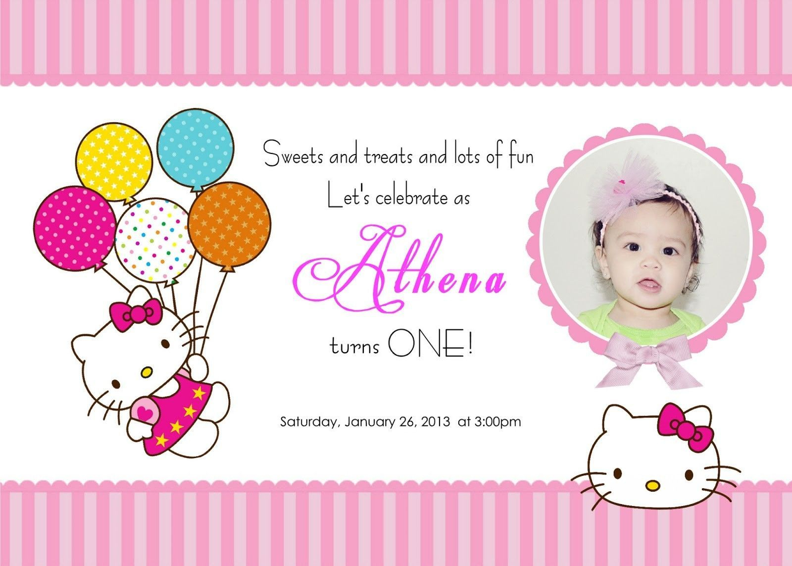 Birthday Card Template Hello Kitty - Free Printable Hello Kitty Pictures