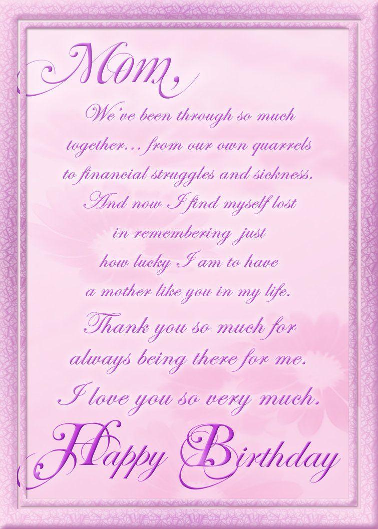Birthday Cards For Facebook Free | Birthday Card For Mom - Free Printable Birthday Cards For Mom From Son