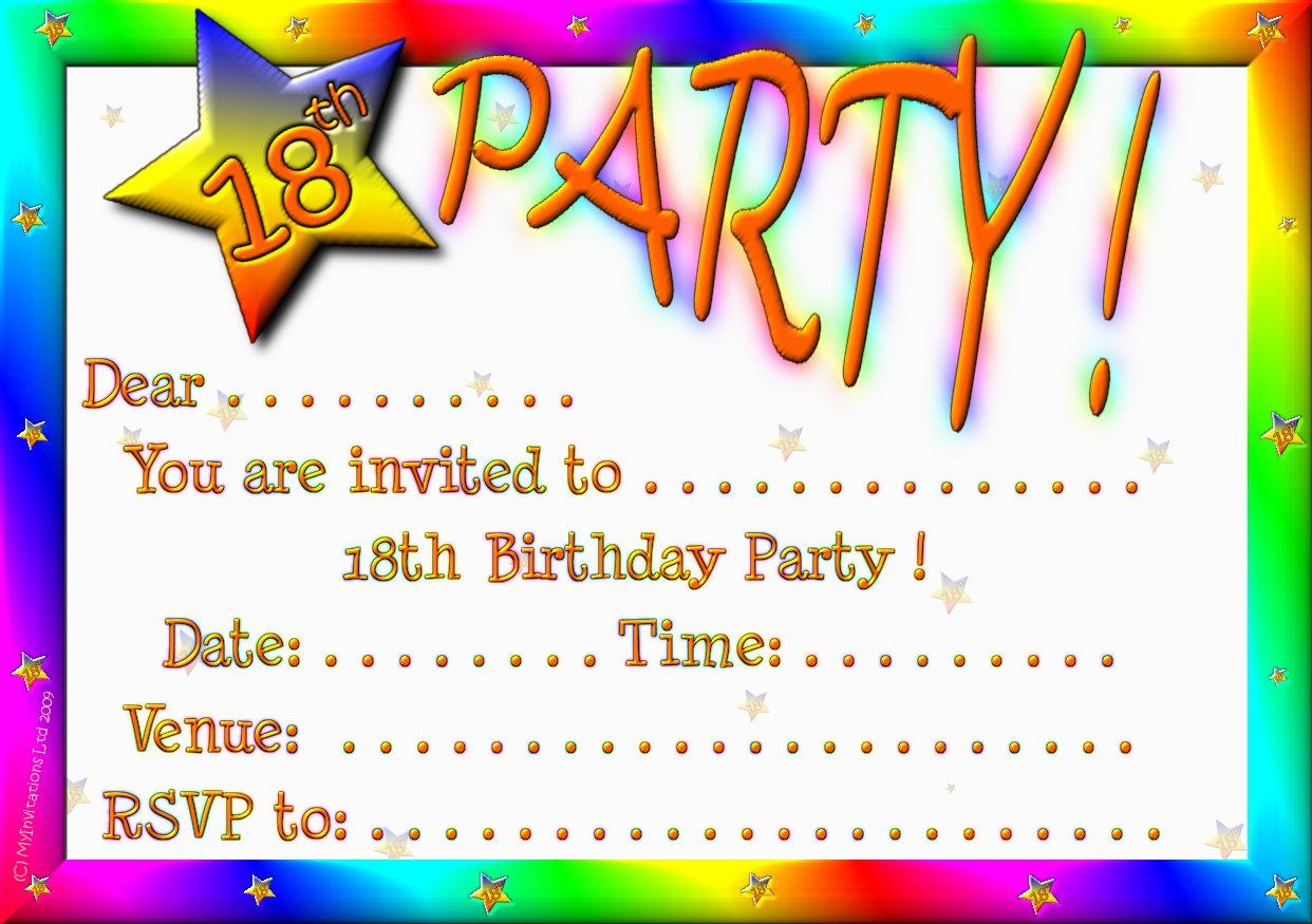 Birthday Invitation Card Maker Free Printable — Birthday Invitation - Free Printable 18Th Birthday Invitations