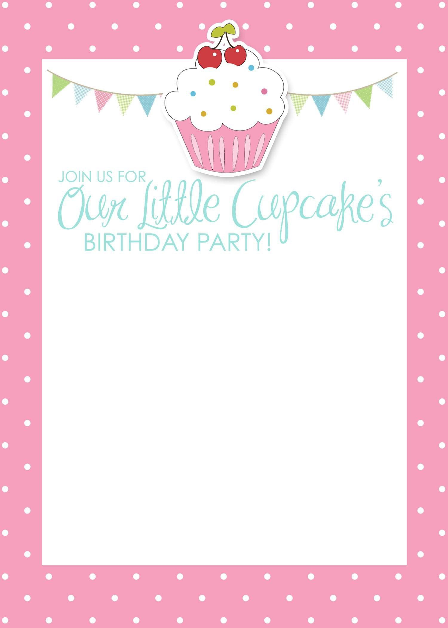 Birthday-Invitation-Card-Template-Free | Birthday Invitations - Free Printable Birthday Invitation Cards Templates
