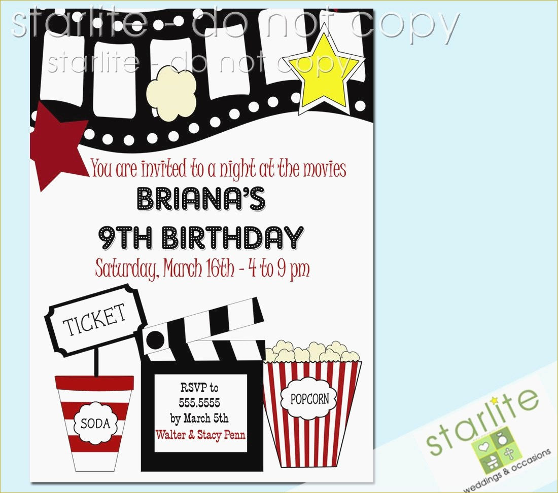 Birthday Invitations Free Printable Unique Birthday Party Invitation - Free Printable Movie Themed Invitations