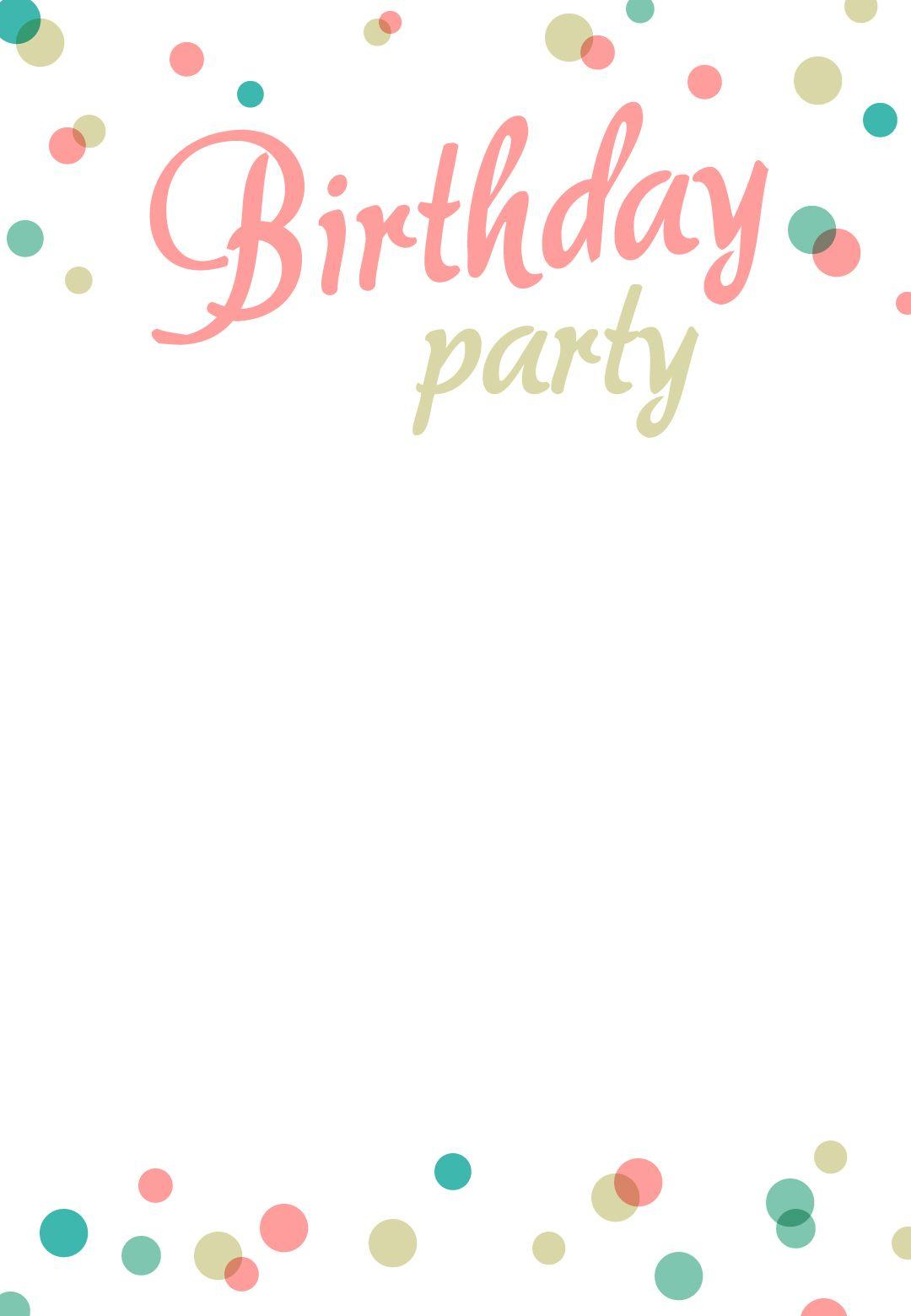 Birthday Party #invitation Free Printable | Addison's 1St Birthday - Free Printable Birthday Invitations