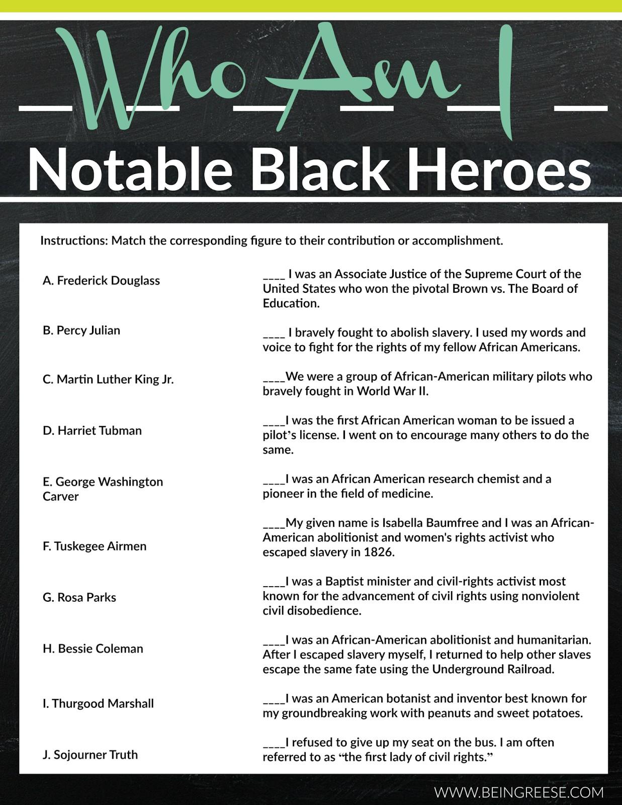 Black History Math Worksheets | Movedar - Free Printable Black History Month Word Search