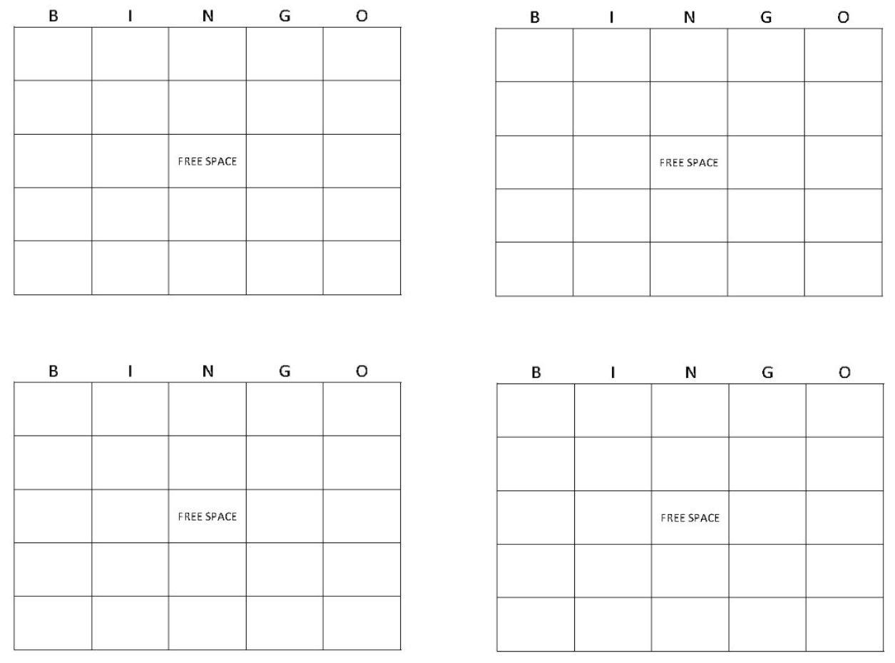 Blank Bingo Cards | Get Blank Bingo Cards Here - Free Printable Blank Bingo Cards