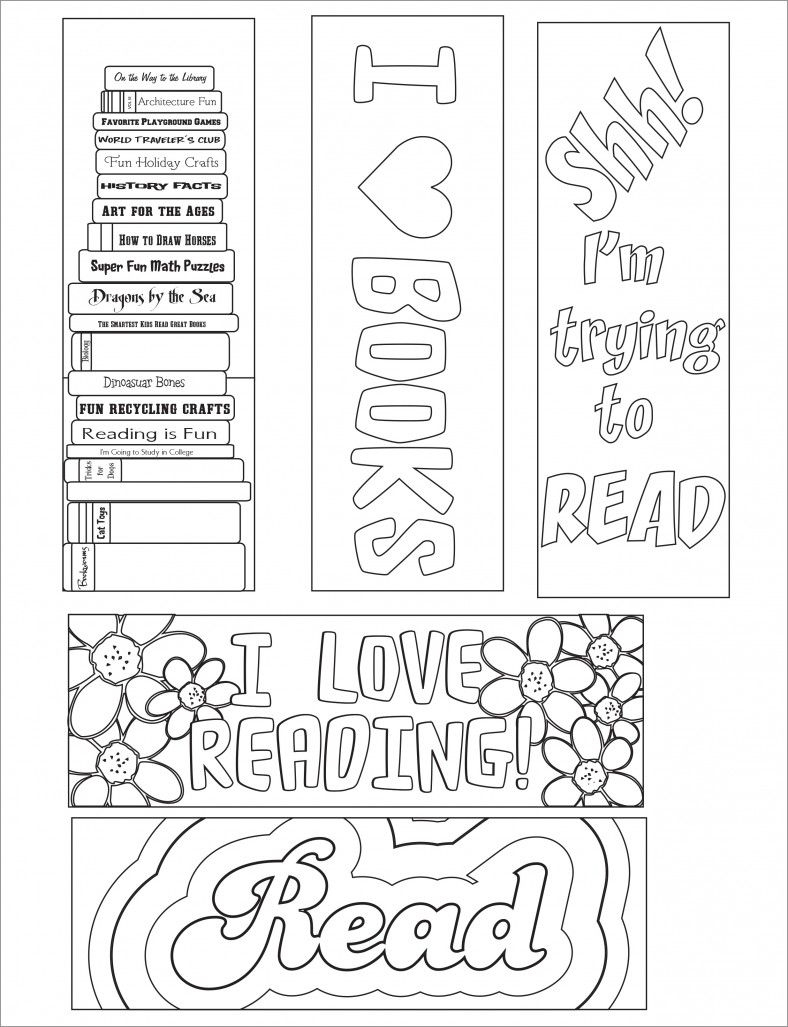 Blank Bookmark Template, Bookmark Template | Librarychicky Ideas - Free Printable Bookmarks To Color
