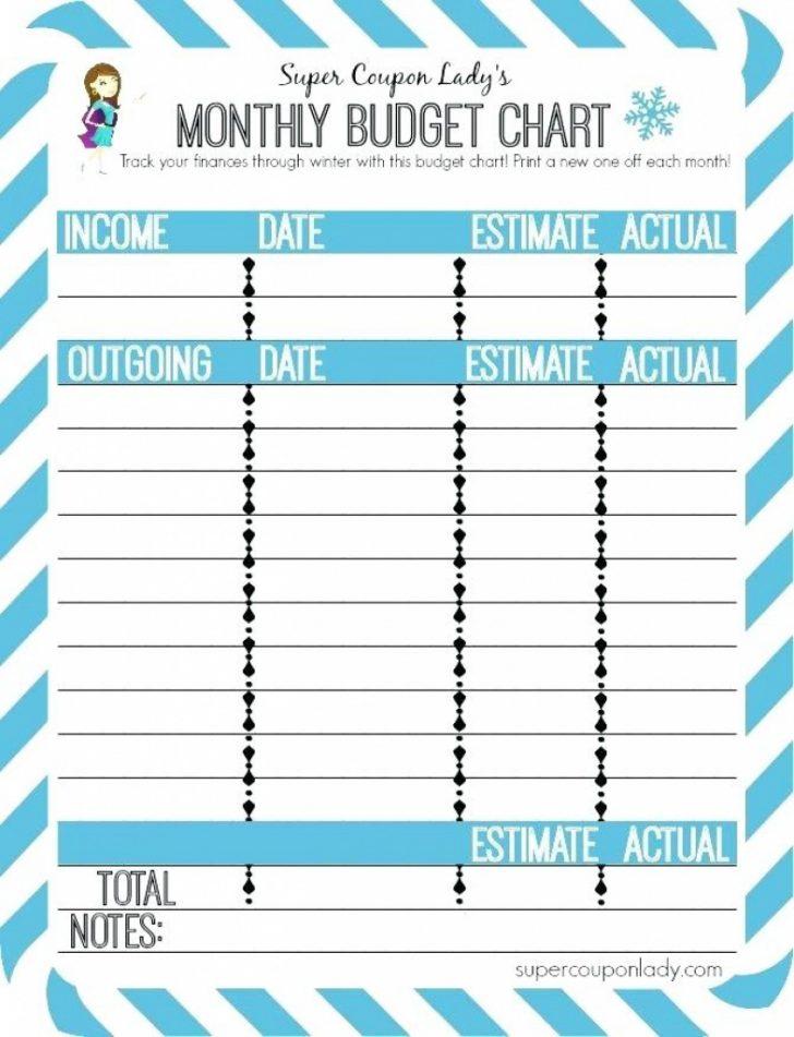 Budgeting Charts Free Printable