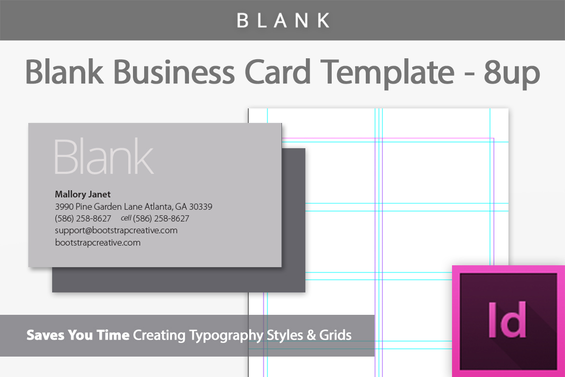 Blank Business Card Indesign Template - Free Printable Blank Business Cards