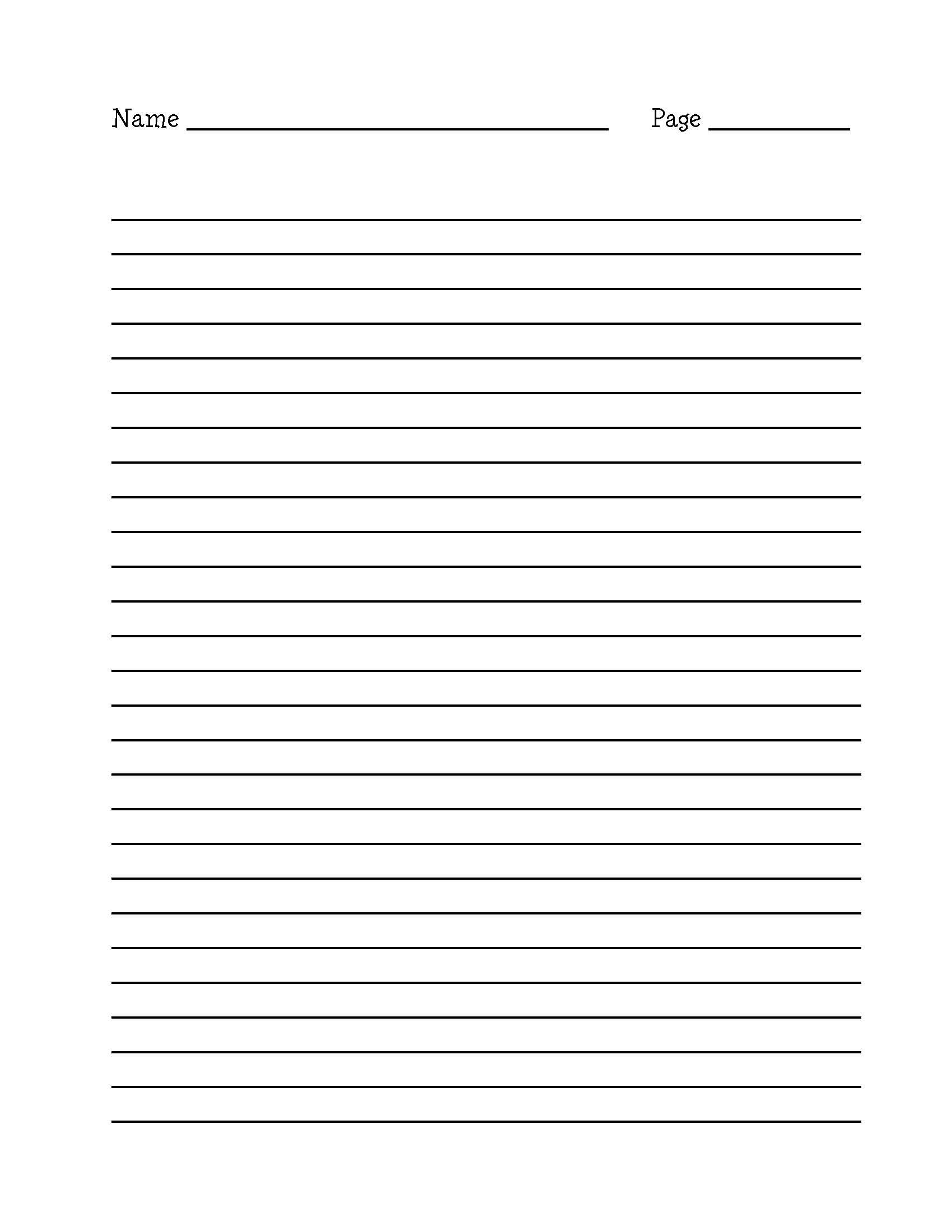 Blank Editable Lined Paper Template Word Pdf | Lined Paper Template - Free Printable Binder Paper