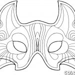 Blank Face Coloring Page Getcoloringpages Mask Templates   Free Printable Wolf Face Mask