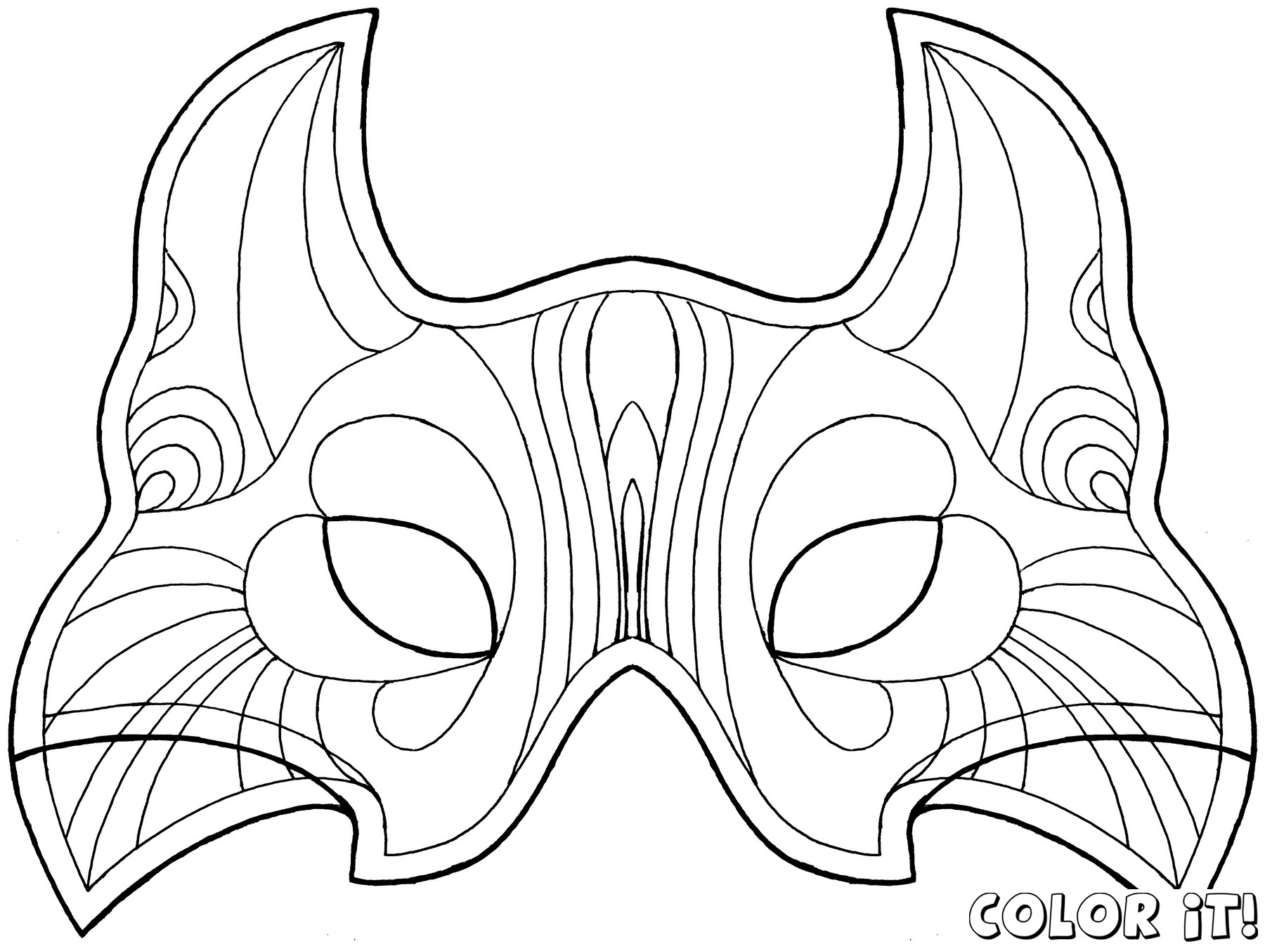Blank Face Coloring Page Getcoloringpages Mask Templates - Free Printable Wolf Face Mask